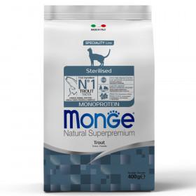 Monge Cat Sterilised корм для стерилизованных кошек с форелью