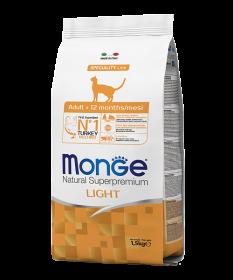 Monge Cat Speciality Light низкокалорийный корм для кошек с индейкой