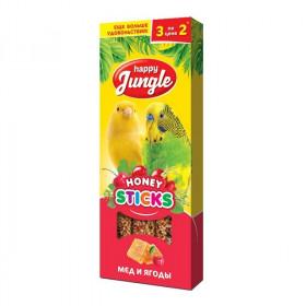 J202 HAPPY JUNGLE Палочки для птиц мед+ягоды 3 шт