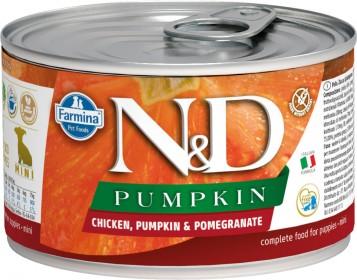Беззерновые консервы Farmina N&D Dog Chicken, Pumpkin & Pomegranate Starter Puppy Mini
