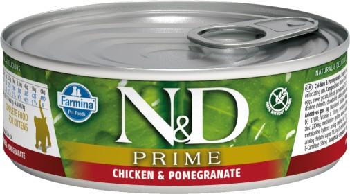 Влажный корм для котят, беременных и кормящих кошек Farmina N&D, беззерновой, с курицей и гранатом