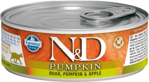 Влажный корм для кошек Farmina N&D Pumpkin, беззерновой, с кабаном, тыквой и яблоком