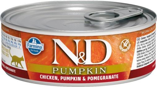 Влажный корм для кошек Farmina N&D Pumpkin, беззерновой, с курицей, тыквой и гранатом