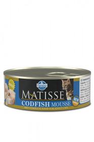 Farmina Matisse Codfish Mousse влажный корм , мусс для кошек с треской