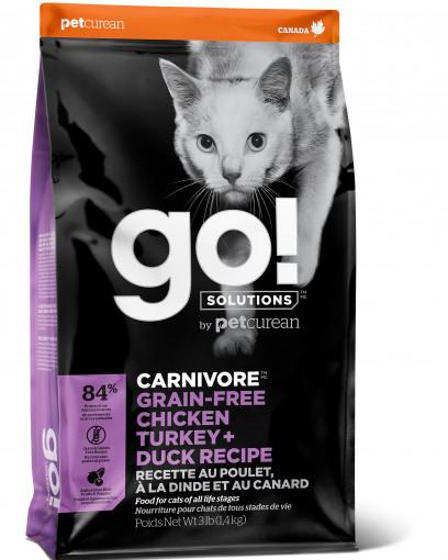 GO! CARNIVORE GF Recipe CF 46/18 беззерновой д/котят и кошек 4 мяса: Курица, Индейка, Утка, Лосось