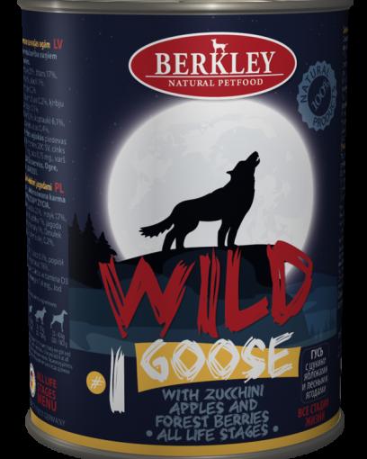 Беркли Вайлд Гусь с цукини яблоками и лесными ягодами для собак всех возрастов №1 400 гр.