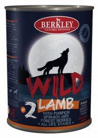Berkley Wild Ягненок с тыквой, шпинатом и лесными ягодами для собак всех возрастов №2 400 г
