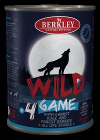 Беркли Вайлд Дичь с морковью, капустой и лесными ягодами для собак всех возрастов №4 400 гр.