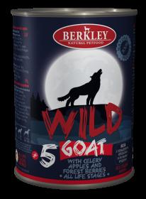 Беркли Вайлд Коза с сельдереем, яблоками и лесными ягодами для собак всех возрастов №5 400 гр.
