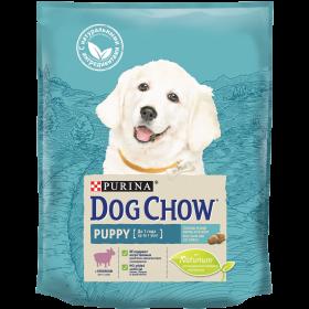 Dog Chow (Дог Чау). Корм сухой полнорационный для щенков, с ягненком.Подходит для кормления беременных и лактирующих собак, а также взрослых собак мелких пород.