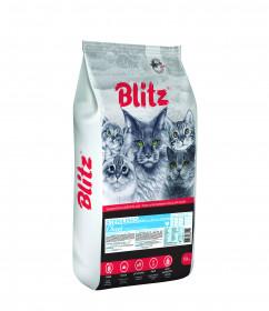 BLITZ STERILISED CATS CHICKEN сухой корм для стерилизованных кошек с Курицей, 10 кг