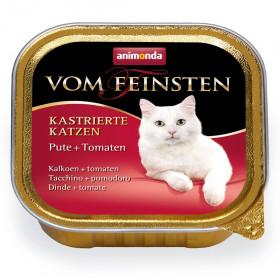 ANIMONDA VOM FEINSTEN консервы для кастрированных кошек с индейкой и томатами 100 гр.