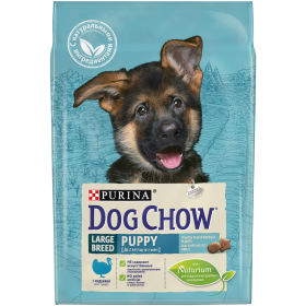 Dog Chow (Дог Чау). Корм сухой полнорационный для щенков крупных пород, с индейкой. Также подходит для кормления беременных и лактирующих собак крупных пород.