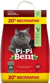 Pi-Pi Bent Сенсация Свежести наполнитель комкующийся, 10 кг+2 кг пакет