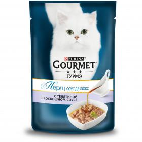Gourmet (Гурмэ) Перл Соус Де-люкс влажный корм для взрослых кошек, с телятиной в роскошном соусе