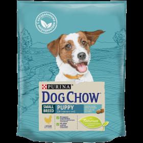Dog Chow (Дог Чау). Корм сухой полнорационный для щенков мелких пород, с курицей. Также подходит для кормления беременных и лактирующих собак мелких пород.