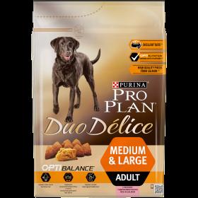 Pro Plan Duo Delice  сухой корм для взрослых собак средних и крупных пород, с высоким содержанием лосося