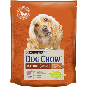 Dog Chow (Дог Чау).Корм сухой полнорационный для взрослых собак старшего возраста, с ягненком