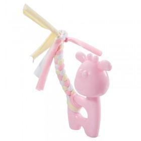 """TRIOL (ТРИОЛ) Игрушка PUPPY для щенков из термопласт. резины """"Олененок"""", розовый,, 100/185мм"""