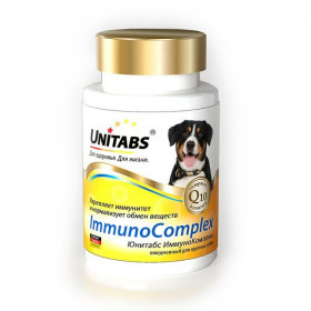 Unitabs Immuno Complex с Q10 Витамины для крупных собак, 100 табл.
