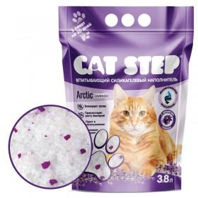 CAT STEP Arctic Lavender наполнитель силикагелевый с ароматом лаванды, 3,8л