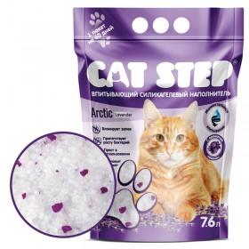 CAT STEP наполнитель силикагелевый с ароматом лаванды, 7,6л