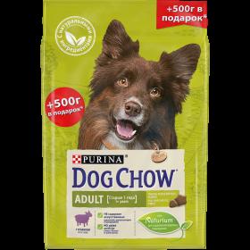 Dog Chow (Дог Чау). Корм сухой полнорационный для взрослых собак, с ягненком