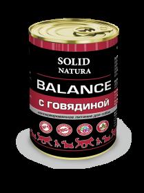 SOLID NATURA Balance консервированный корм для собак, с говядиной, 340г