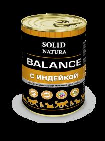 SOLID NATURA Balance консервированный корм для собак, с индейкой, 340г