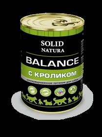 SOLID NATURA Balance консервированный корм для собак, с кроликом, 340г