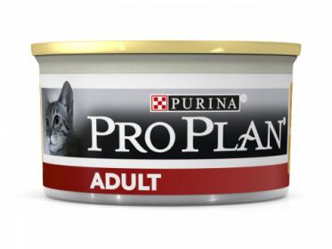 Pro Plan для взрослых кошек, с высоким содержанием курицы, паштет