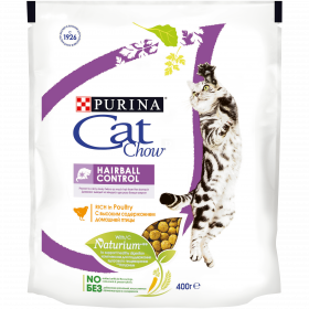 Purina Cat Chow, сухой корм для взрослых кошек для контроля образования комков шерсти, с высоким содержанием домашней птицы