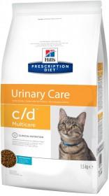 Hill's Prescription Diet C/D Multicare Urinary Care сухой корм для кошек, профилактика цистита и МКБ, с рыбой