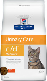 Hill's Prescription Diet C/D Multicare Urinary Care сухой корм для кошек, профилактика цистита и МКБ, с курицей
