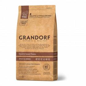 Сухой корм GRANDORF Утка с бататом для собак всех пород от 1 года