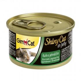 GimCat, ShinyCat консервы для кошек из цыпленка с ягненком