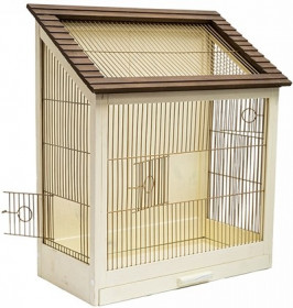 ДАРЭЛЛ Клетка для птиц Ретро - кантри золото разборная. крепеж для стен. массив дерева. 40*29*61см  8765