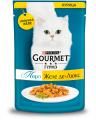 Gourmet (Гурмэ) Перл Желе Де-Люкс влажный корм для взрослых кошек, с курицей в роскошном желе