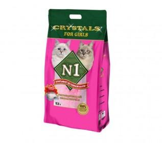 CRYSTAL №1 For Girls , наполнитель впитывающий силикагелевый для девочек, 12,5л