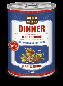 SOLID NATURA Dinner консервированный корм для щенков, с телятиной