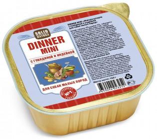 SOLID NATURA Dinner Mini консервированный корм для собак мелких пород, говядина с индейкой, ламистер, 150г