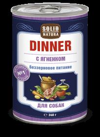 SOLID NATURA Dinner консервированный корм для собак, с ягненком