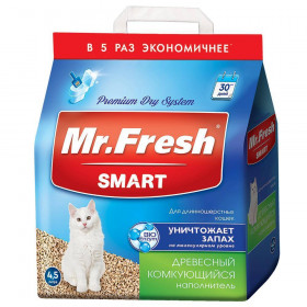 Mr.Fresh наполнитель комкующийся для длинношерстных кошек, 4,5 л (2,2 кг)