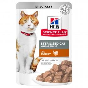 Hill's Science Plan пауч для стерилизованных кошек, с индейкой в соусе, 85г