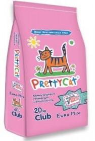 Pretty Cat Euro Mix наполнитель комкующийся с ароматом алоэ вера, 20 кг