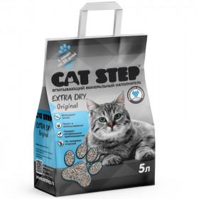 CAT STEP Extra Dry Original наполнитель впитывающий,минеральный , 5л