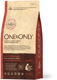 Сухой корм One&Only Ягненок с рисом для стерилизованных кошек