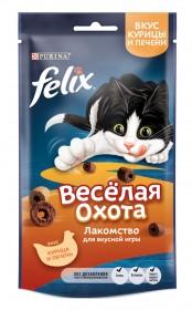 Felix (Феликс) Весёлая охота. Корм сухой неполнорационный для взрослых кошек, со вкусом курицы и печени