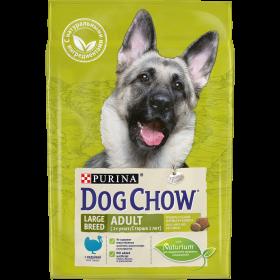 Dog Chow Корм сухой для взрослых собак крупных пород с индейкой