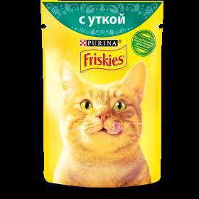 Purina Friskies, Влажный корм Friskies для взрослых кошек, с уткой в подливе, Пауч